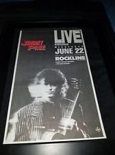 Jimmy Page Rockline Rare Original Radio Promo Poster Ad Framed!