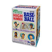 2018 Topps Heritage High Number Baseball 8ct Blaster Box