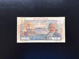 Guadeloupe Billet 5 Francs Caisse Central D'Outre Mer  T.22
