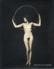 Alfred Cheney Johnston Photo, female figure posed with hoop, 1920-30s