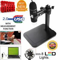 8LED 1000X 10MP USB Digital Microscope Endoscope Magnifier Camera w/ Lift Stand