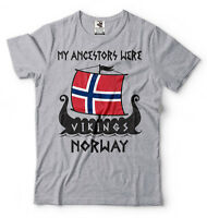 Norway Viking T-shirt Viking Ancestry Heritage T-shirt My Ancestors were Vikings