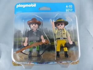 PLAYMOBIL 9217 Duo garde-forestier braconnier wild life 2 personnages NEUF