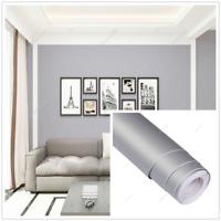 Matte Self Adhesive Wallpaper Vinyl Furniture Kitchen Wall Sticker Gray 24x118''