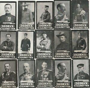 Ogdens Tabs, Leading Generals of the War, 15 cards