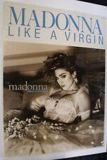 Madonna Poster Original Vintage Sire Records Promo Like A Virgin 1984