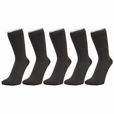 Plain Dark Grey Ankle Socks (Size: 4-7), 6 PACK