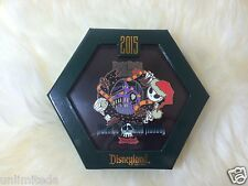 Disney Haunted Mansion Holiday 2015 Nightmare Before Christmas Jumbo Pin Glows