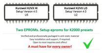KURZWEIL K2VX Setup Eproms V4 - for K2000 K2000R K2000RS