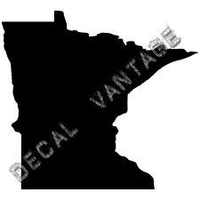 Minnesota Vinyl Sticker Decal State MN - Choose Size & Color