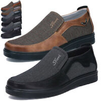 Men's Driving Boat Shoes Leather Moccasins Work Slip on Outdoor Loafers Sports