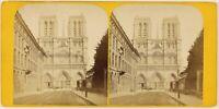 Notre-Dame De Paris Francia Foto Stereo Th1L7n6 Vintage Albumina c1868