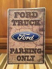 FORD TRUCK PARKING Metal Gas Oil Diesel Vintage Style Garage Coupe Motor F150
