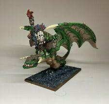 Warhammer Orcs and Goblins - Wurrzag Shaman on Wyvern - Removable - Metal OOP