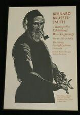 Bernard Brussel-Smith Broadside Printed March 1983 Wood Engravings Event 1/100