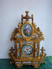 Liquidation!$26000 Rare Orig 19Thc Ormolu Mount Sevres Mantel Japy Freres Clock