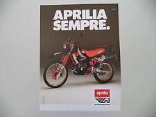 advertising Pubblicità 1987 MOTO APRILIA ETX 125