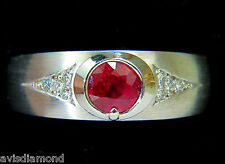 .80ct 14KT NATURAL FINE GEM RUBY DIAMOND RING RUSTIC DECO PRIME+