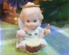 Enesco Morehead Holly Babes Angel Girl drummer figurine