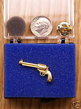 24K Gold Plated Six Gun Single Posted Pin / Tie Tack