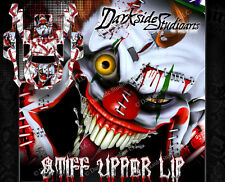 "TRAXXAS SLASH 4X4 GRAPHICS WRAP DECALS ""STIFF UPPER LIP"" FITS OEM BODY PARTS RED"