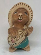 "Vintage Pendelfin Bunny Rabbit Figurine ""Rockey"" Banjo Guitar Farmer Country 4"""