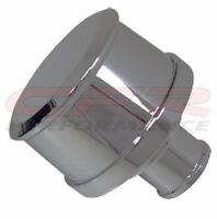 BILLET ALUMINUM ROUND PUSH IN BREATHER SMOOTH - CHROME