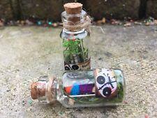 Miniature VOODOO DOLL & PIN in Glass Bottle / Alternative Fairy Dust / Witch /