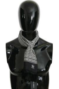 DOLCE & GABBANA Scarf Black Baroque Fringes Mens Wrap 140cm x 15cm RRP $340