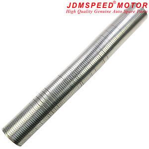"63mm 2.5"" Flexible Polylock Stainless Steel Flexi Tube 1/2 Metre Exhaust"
