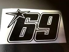 STICKER NUMERO 69 NICKY HAYDEN DUCATI CORSE PERFORMANCE MONSTER  GP MOTO - 17 cm