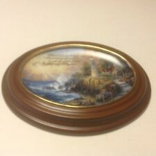 Thomas Kinkade's Guiding Lights First Issue Framed Plate '' The Light Of Peace''