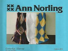 Entrelac Throw 3 Designs Knitting Instruction Patterns Ann Norling