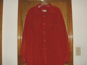 Men's Eddie Bauer Heavy Corduroy Shirt Red XXL 2XL