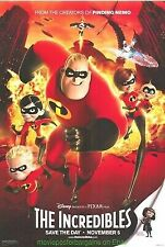 The Incredibles 27 X 40 Movie Poster Disney Animation