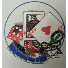 Adesivo transfer termico carta adesiva per t-shirt design poker 24,5x25,5 cm.