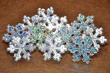 12 Disney Frozen Snowflake Cake Cupcake Rings Hologram Decoration Party Supplies