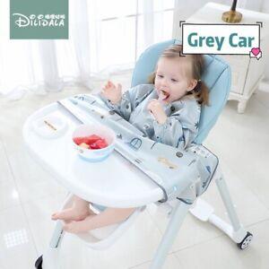 Baby All Full Cover Bibs Baby Led Weaning Waterproof Bib (Grey Car Pattern)