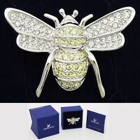 Swarovski Butterfly Crystal Hallmark Brooch Pin Jewelry Box & Certificate 2009