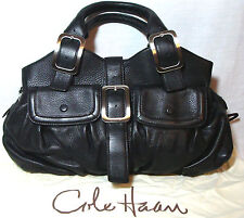Cole Haan Black Leather Multi-Compartment Shoulder Handbag MSRP $450
