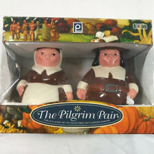 The Pilgrim Pair Salt & Pepper Shakers In Box Publix Holiday Thanksgiving 2006