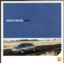Renault Megane Hatchback 2009-10 UK Market Sales Brochure