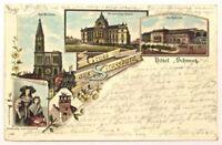 Postkarte   Strassburg  1896