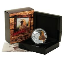 Tuvalu Endangered Tasmanian Wedge-tailed Eagle $1 2012 Proof Silver Crown Mint B