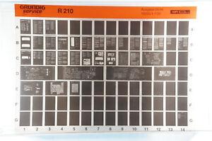 Grundig Service R210 Receiver Tuner Verstärker Klassiker Microfiche 1994 K229