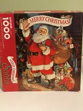 Springbok Merry Christmas Santa 1000 Piece Jigsaw Puzzle Vintage 24x30