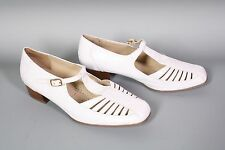 1D Medicus Comfort Sandalen Riemchen Schuhe Leder weiß Gr. 38 (5 G) ungetragen
