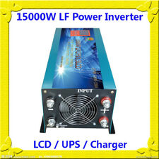 15000W LF Split Phase PSW 48VDC/110V,220V AC 60Hz Power Inverter LCD/UPS/Charger