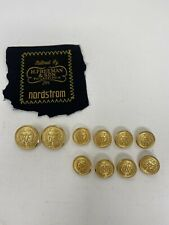 Hickey Freeman Complete Set 10 Gold HF Blazer Suit Jacket Replacement Buttons