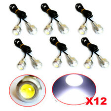 12 X 9W LED DRL Eagle Eye Light Car Auto Fog Daytime Reverse Signal White casing